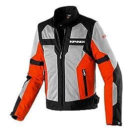 SPIDI NET EVO MESH Motorcycle Riding Jacket Naked/Touring (Black/Red, L)