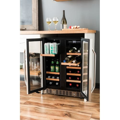 EdgeStar CWB1760FD 24 Inch Built-In Wine and Beverage Cooler with French Doors by EdgeStar (Image #3)
