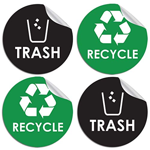 (Recycle Sticker Trash Bin Label - 4