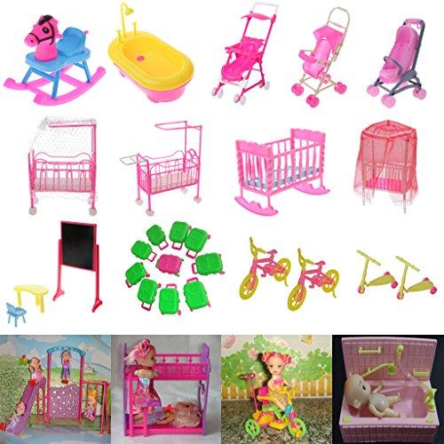 Amazon.es: Juegos de Casa de Muñeca Muebles de Carrito Carro Carretilla Cochecito Barbie Kelly Doll Bebés: Juguetes y juegos