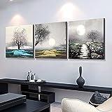 ZHFC-salon de peinture sur la décoration moderne, triple des murales, simplicité, type de fleurs crystal accroché des tableaux,60 * 60 crystal