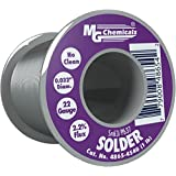 MG Chemicals 63/37 No Clean (NC) Flux Core, Leaded Solder Wire Pocket Pack, .81mm/.32″ Dia. (2-Pack)