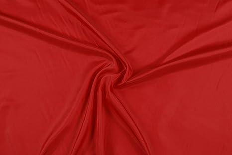 1b0a255017 Tessuto al metro: Fodera piuma rossa di viscosa: Amazon.it: Casa e ...
