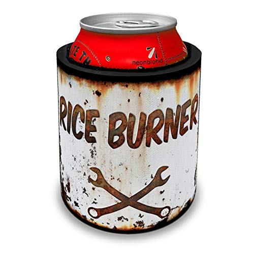NEONBLOND Rusty old look car Rice burner Slap Can Cooler Insulator Sleeve