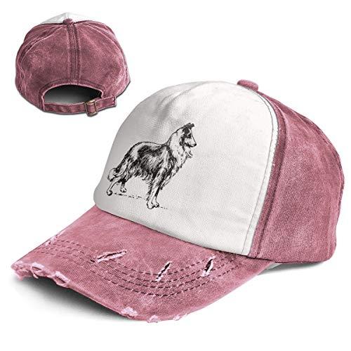 Border Collie Classic Unisex Washed Twill Cotton Baseball Cap Vintage Adjustable Dad Hat Trucker Hat