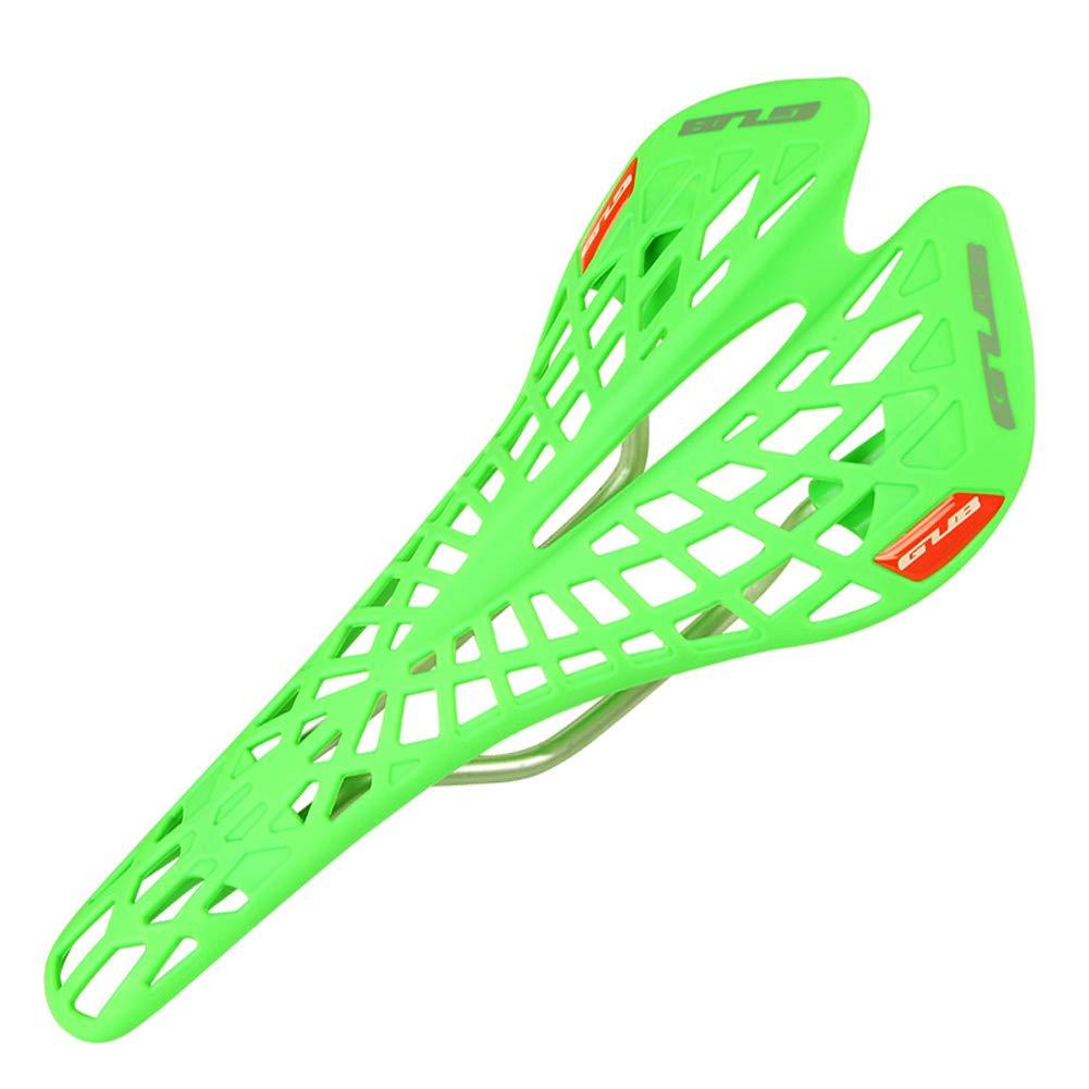HWGQL Sattel Kunststoff Mesh Atmungsaktiv Sport Style Bike Seat Fahrrad Zubehör (Farbe   Grün)