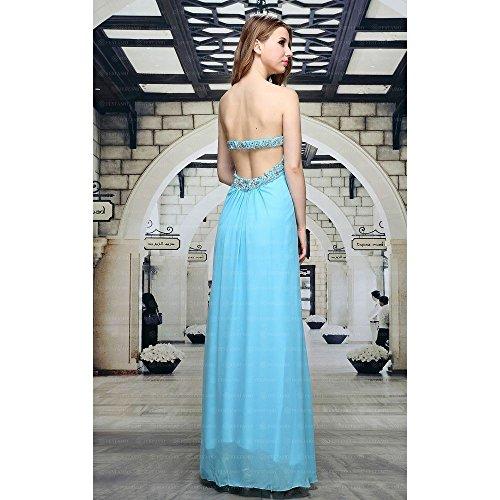 Design bei Für Kleid Ball Maxi Ital Damen Hellblau Festamo PC0q6OWW
