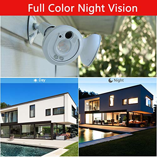 Sengled Floodlight Security Camera Outdoor Full HD 1080P Security Camera WiFi with Color Night Vision Motion-Activated Two-Way Talk Works with Alexa, Waterproof Cameras Surveillance Wireless (2 Pack)