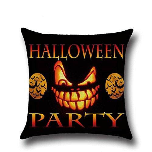 Gotd Halloween Decorations Decor Halloween Throw Pillow Case Sofa Waist Throw Cushion Cover Home Decor Square 45cm x 45cm 18inch x 18inch (#18)