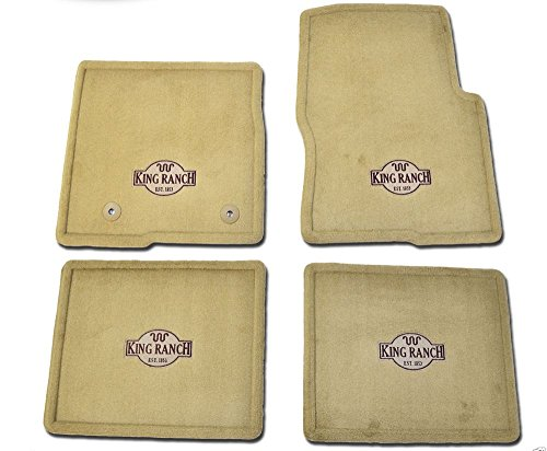Oem Factory Stock Genuine 2011 2012 2013 2014 Ford F-150 F150 King Ranch Tan Brown Carpet Floor Mats Set 4-pc Front & (Brown Ranch)