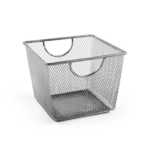 Design Ideas Mesh Storage Nest, Silver, Small