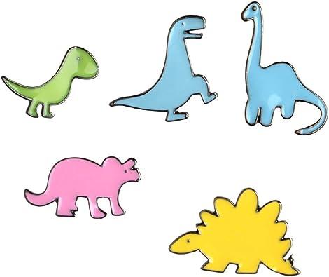 iTemer Cartoon Enamel Brooch Dinosaur Series Novelty Cute Badge Brooch Pin Set Clothes Backpacks Colorful Accessories Toys & Games