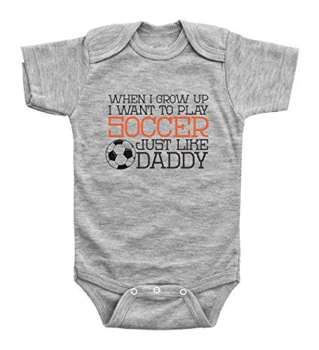 Cute Soccer Onesies / PLAY SOCCER LIKE DADDY
