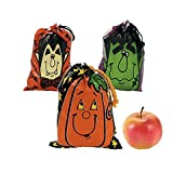 Arts & Crafts : Large Halloween Drawstring Goody Bags (3 Dozen)