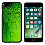 MSD Premium Apple iPhone 7 Plus Aluminum Backplate Bumper Snap Case Abstract macro photo of dandelion seeds with water drops IMAGE 24382752