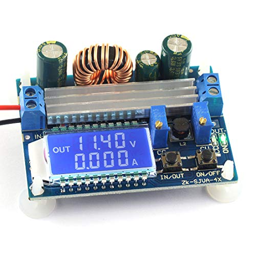 DZS Elec DC-DC Buck Boost Converter Module 5.5-30V 12v to 0.5-30V 5v 24v Adjustable Step Down Up Voltage Regulator Constant Current Voltage 3A 35W Power Supply with LCD ()