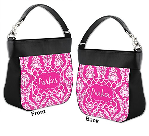 Trim amp; Back Personalized Genuine w amp; Moroccan Purse Damask Leather Front Hobo 0gTxq6f