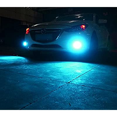 Alla Lighting 2000 Lumens High Power 3030 36-SMD Extremely Super Bright 2504 PSX24W 12276 Ice Blue LED Bulb for Fog Driving Light Lamps Bulbs Replacement: Automotive