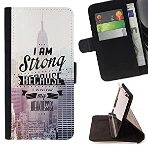 Jordan Colourful Shop - I Am Strong For Apple Iphone 6 PLUS 5.5 - Leather Case Absorci???¡¯???€????€??????????&fnof