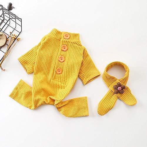 Cappotto carino Pet Supplies Misc Autunno e inverno nuovo abbigliamento per animali domestici di cotone in un pezzo di abbigliamento a quattro zampe Abbigliamento cane a maglia (colore  giallo, dimens