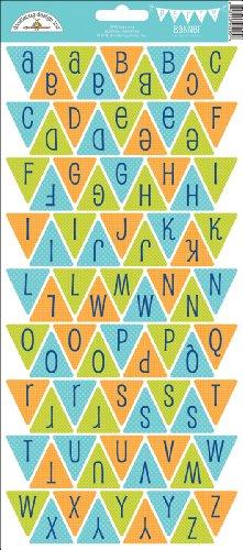 Doodlebug Designs Cardstock Alphabet Stickers - Doodlebug Design - Boys Only Collection - Cardstock Stickers - Party Banner - Alphabet