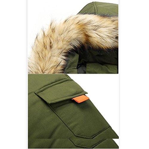 Cappuccio Autunno Giacca Beautytop Lunga Con Caldo Outwear Invernale Da Verde Cappotto Inverno Manica 1 Sottile Uomo Top qpgAwxt7vn