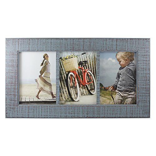 Fetco Home Decor (Fetco Home Decor F54859357T Dennis Reclaimed Wood Photo Frame, 5 x 7