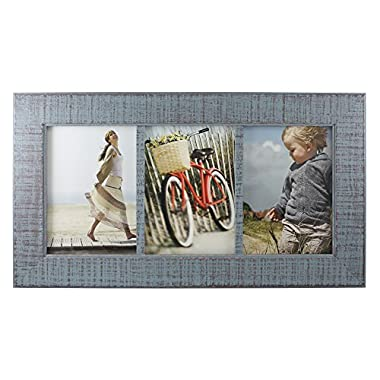 Fetco Home Decor F54859357T Dennis Reclaimed Wood Photo Frame, 5 x 7 , Blue