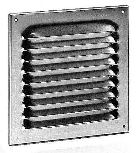 Upmann rejilla de aireació n (aluminio anodizado, con mosquitera, 200 x 200 mm, 1 pieza, 54602 200x 200mm 1pieza
