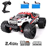GILOBABY Remote Control Car 1:18 Scale High Speed 36Km/h 4WD 2.4Ghz Radio Controlled Off-Road RC Car with 2 Rechargeable Batteries Electronic Truck for Kids Adults