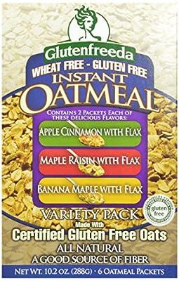 Glutenfreeda Gluten Free Instant Oatmeal, Apple Cinnamon with Flax,,.