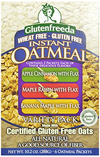 Glutenfreeda's Instant Oatmeal, Variety Pack, 6-Count Packets (Pack of 8) (Packaging may vary)
