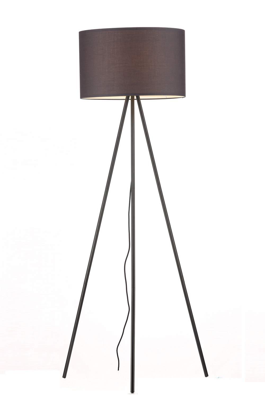 stile scandinavo /ø 45 cm attacco E27 piantana elegante con paralume in stoffa Nero colore: Nero altezza: 150 cm lampada a treppiede in Metallo Mordenluci Lampada de terra