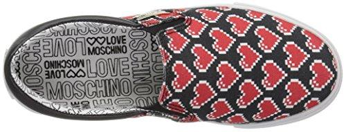 Cuori Tessuto Nero Donna On Moschino Love Rosso Slip Ja15233g15if0000n qHwxHgI