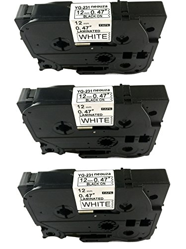 acdauto-3pk-black-on-white-label-tape-compatible-for-brother-tz-tze-231-tz-231-tze-231-p-touch-12mmx
