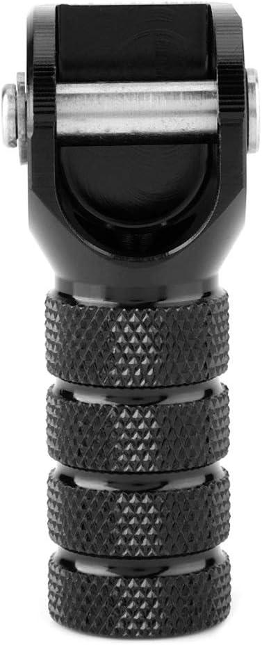 Vikenar P/édale de Frein Noir Moto /Étape Vitesse Shifter Levier de Vitesses Astuce Compatible avec K-T-M 125-530cc 690 950