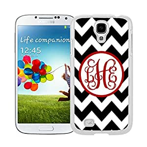 New Style View Window Design Smart Cover For Samsung Galaxy S4 i9500 Personalized Gray Chevron Pink Monogram Watercolor Samsung Galaxy S4 i9500 Case White Cover