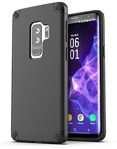 Galaxy S9 Plus Phone Case - Encased (Nova Series) Slim Rugged Protective Cases for Samsung Galaxy S9+ (2018 Release) Black