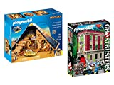 PLAYMOBIL Pharaoh's Pyramid and PLAYMOBIL Ghostbusters Firehouse bundled by Maven Gifts