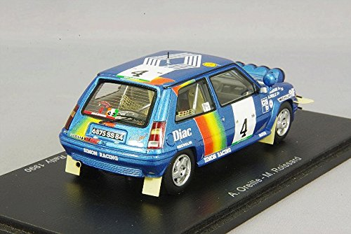 Amazon.com: Renault R5 GT Turbo, No.4, Rallye Cote d Ivoire, 1990, Model Car,, Spark 1:43: Spark: Toys & Games