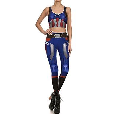 Amazon.com: Fashion Women Leggings Comic Cosplay Bottoms ...