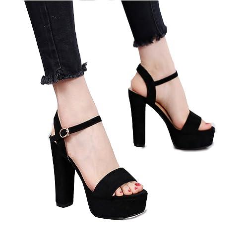Times Alto Altoscolor Hyun Tacones Negro Tacón Zapatos De Moda yb6gY7vf