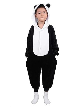 788a9c11cbca1 iiniim Vêtements de Nuit Cartoon Panda Animal Bébé Enfant Haut de Pyjama  Flanelle Grenouillère à Capuche
