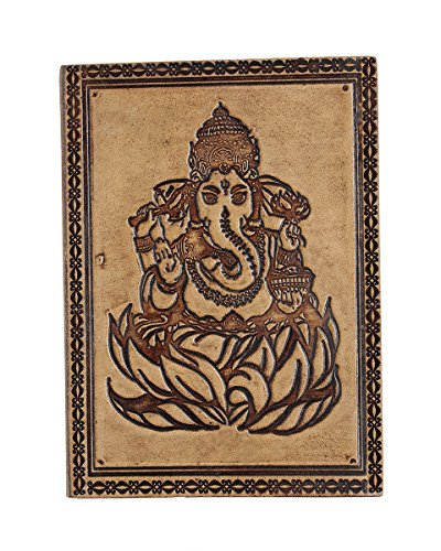 Store Indya, Ganesha Print Handmade Leather Journals Personal Organizers Travel Notebook Diary
