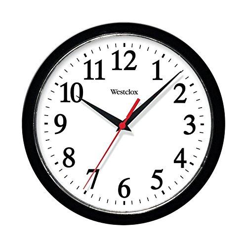 Westclox 461861 Basic Wall Clock, Black, 10