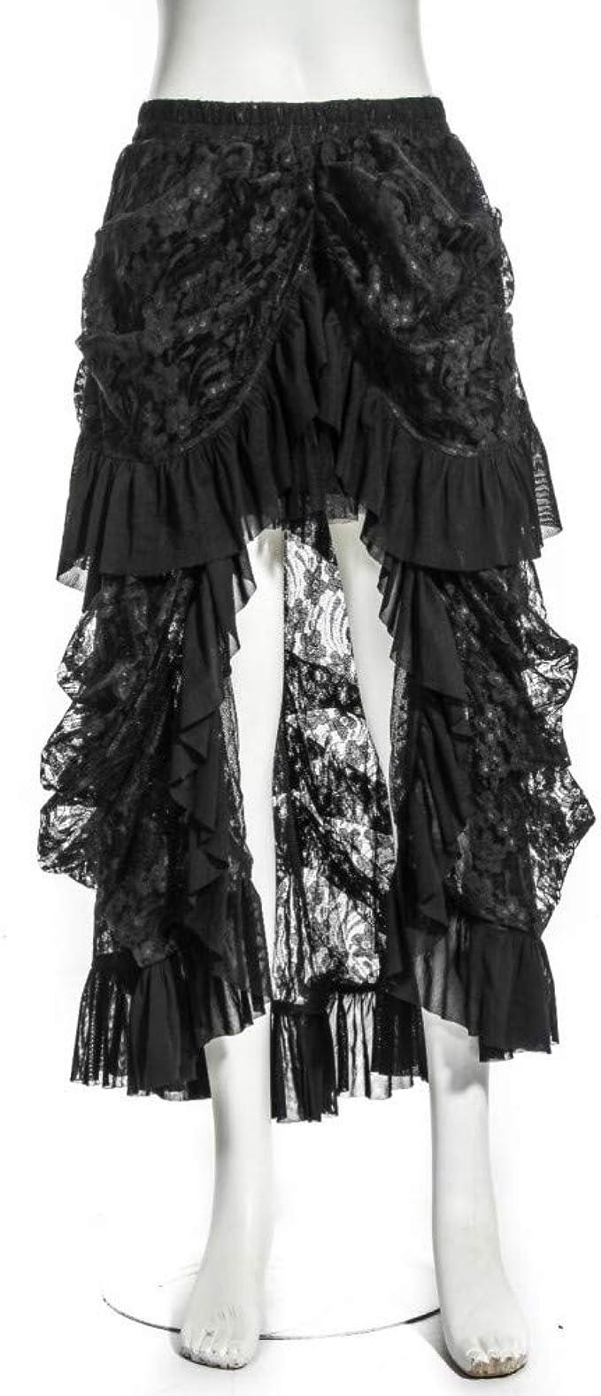 GYYWAN Steampunk Gothic Mujer Faldas Negras Elegante Disfraz De ...