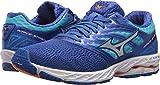 Mizuno Running Women's Wave Shadow Shoes, dazzling blue/white, 9.5 B US