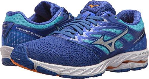 Mizuno Running Women's Wave Shadow Shoes, Dazzling Blue/White, 8.5 B (Mizuno Womens Wave)