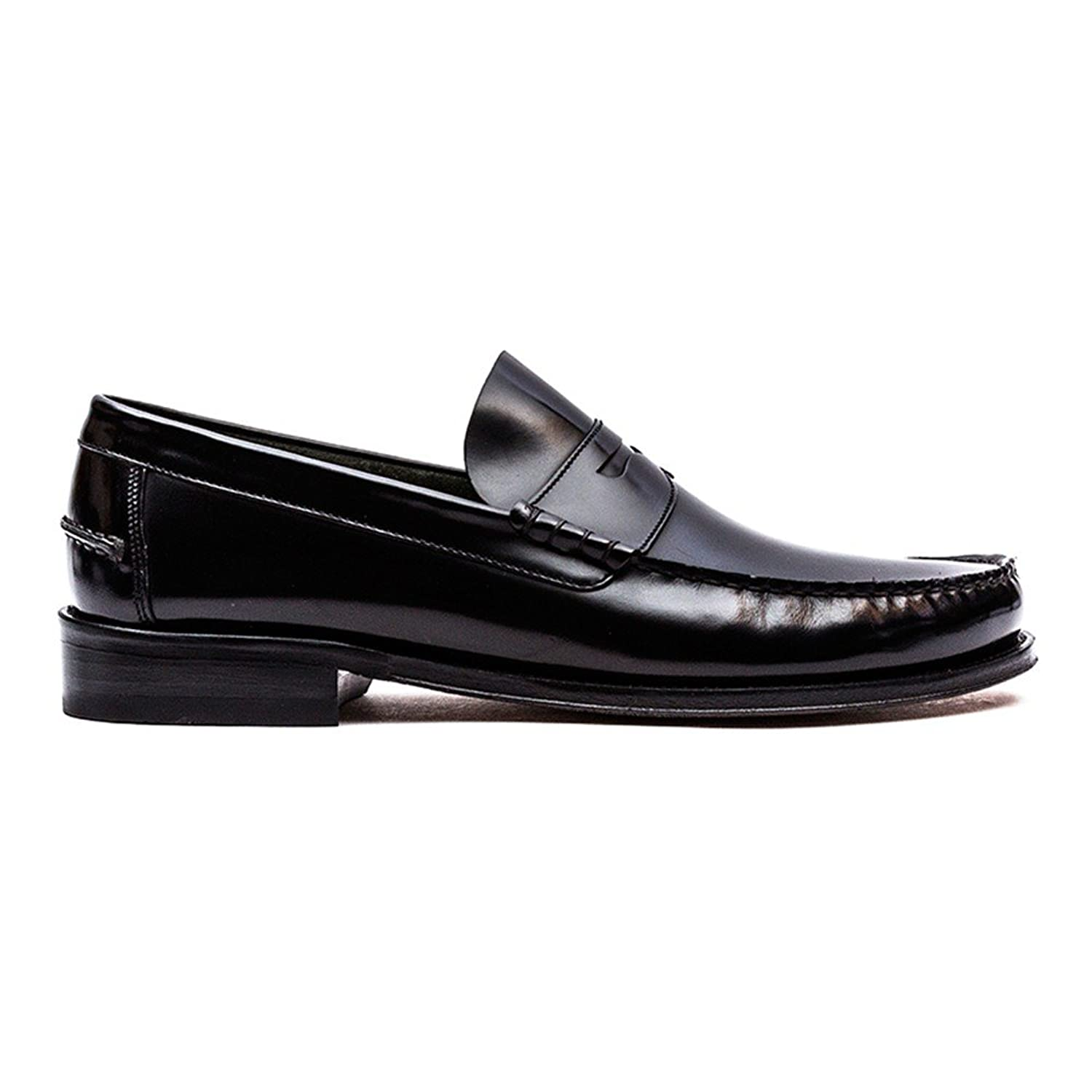 c1b02cbc471 Loake Men s Princeton Polished Leather Moccasin Shoes in Black and ...