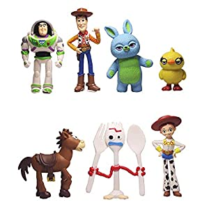 7 PCS Toy Story Cake Toppers mini Figurines Cupcake Decorations Cute Premium Toy Story Party Figurines Cartoon Action Figures Toy Story Party Supplies